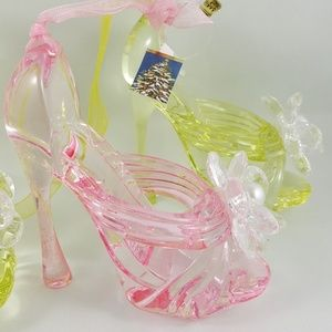 Other - Tree Ornaments High Heel Shoe Sandals - 3 Pastel